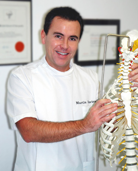 Martin Davies Osteopath in his Cheshire Osteopathy Clinic